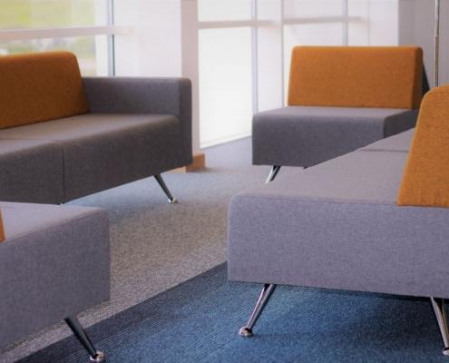 University lounge area modern furniture
