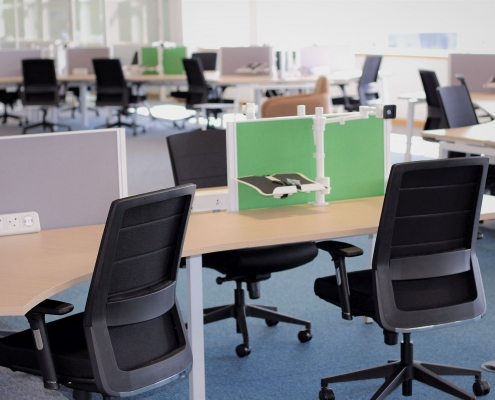 Ergonomic office furniture in office fit out project